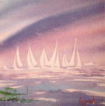 Regatta Sailing print Bob Pittman Art - Painting, Watercolor, Oil, acrylic, Eastern NC, North Carolina, rural landscapes, Barns, tobacco, Fine Art Prints.