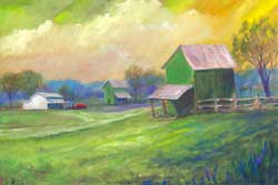 Green BArns eastern NC Oil Painting