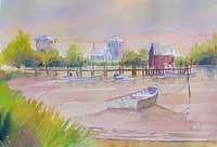 Silverlake Ocracoke Watercolor Art Bob Pittman