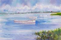Beaufort NC Skiff Painting PRints