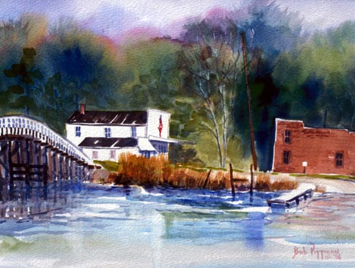 Historic Williamsburg VA print Bob Pittman Art - Painting, Watercolor, Oil, acrylic, Eastern NC, North Carolina, rural landscapes, Barns, tobacco, Fine Art Prints.