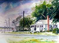 Swansboro NC Watercolor Art